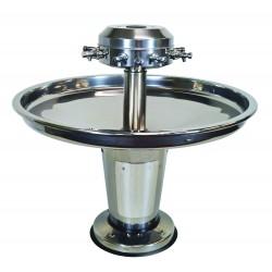 Fregadero circular de acero inoxidable sobre soporte LAGOON