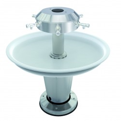 Circular wash basin collective on foot handicapped accessible PRM
