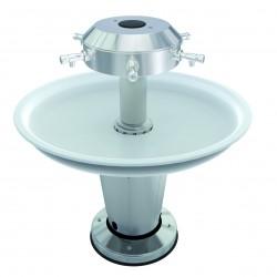 Lavabo circular con pedestal para discapacitados con movilidad reducida