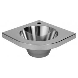 Lavabo esquinero pequeño de acero inoxidable para WC