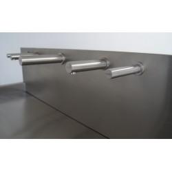 Miniature-3 Robinets automatiques inox RONDEO savon eau et air à fixation murale RES-37-S1