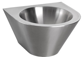Wash basins vandal proof in stainless steel
