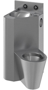 Combine WC and wash basin in stainless steel