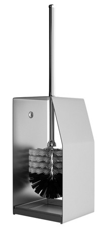 Toilet brush holder in stainless steel