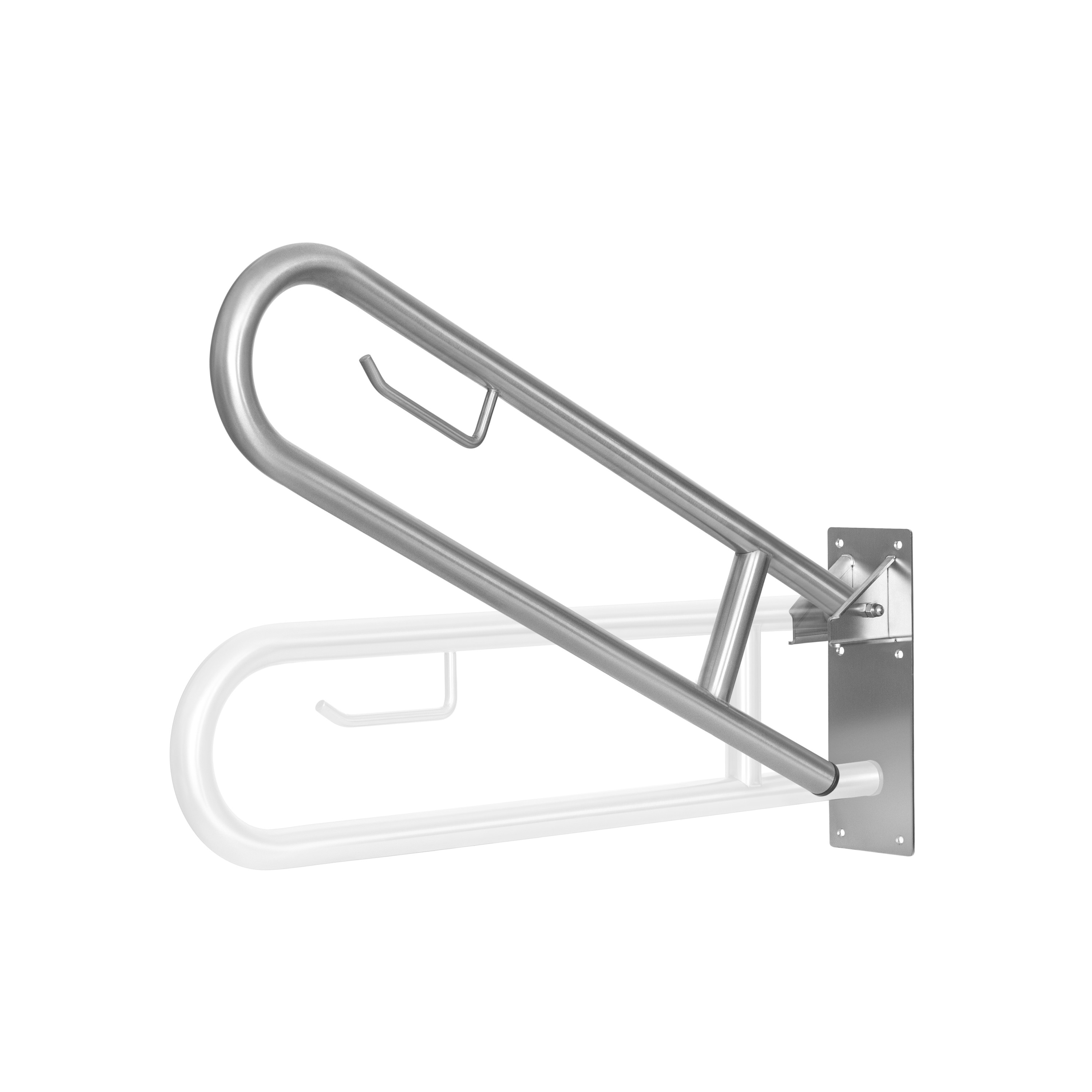 Grab bars, shower seats in stainless steel