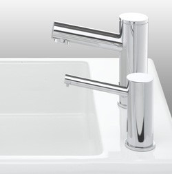 Matching touch free soap dispensers range