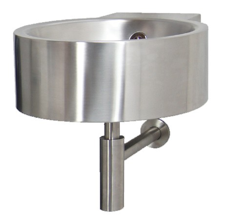 Stainless steel wall mounted fixation wash basin