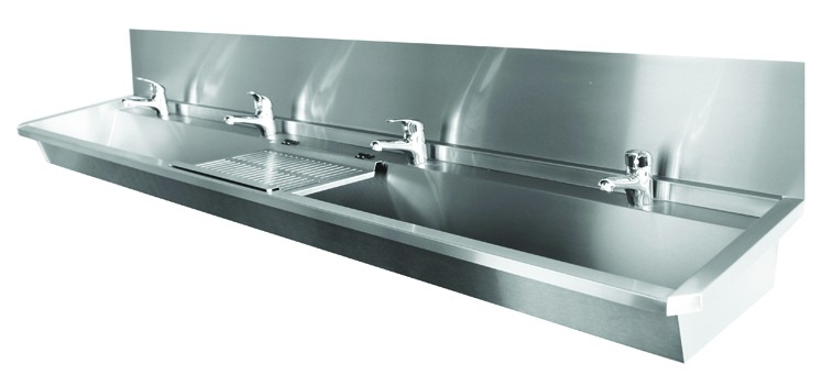 Collective stainless steel wash basin