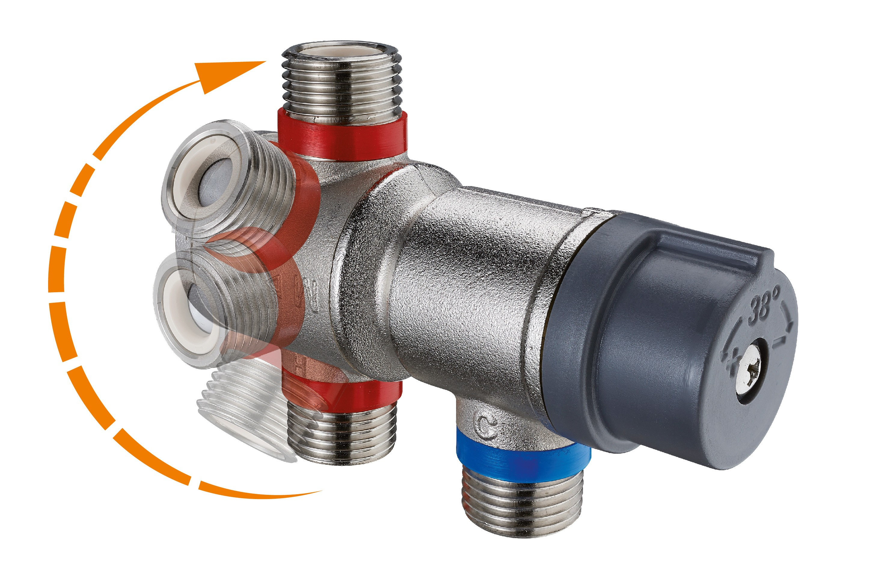 Individual thermostatic mixing tap