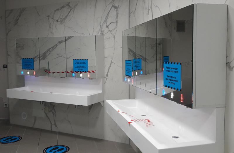 Module miroir 3 en 1 avec distance de sécurité COVID